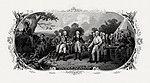 BEP vignette by Frederick Girsch of Trumbull's painting Surrender of General Burgoyne