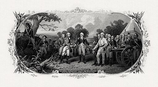 """Surrender of General Burgoyne"" by John Trumbull"