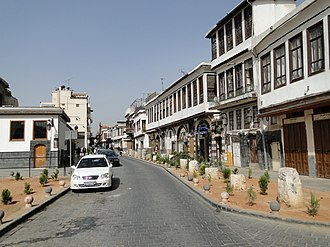 The Biblical Street called Straight of Damascus Bab Sharqi Street, Damascus.jpg