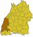 Baden Wuerttemberg Region Suedlicher Oberrhein.png