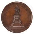 Baksida av bronsmedalj med Rubensstatyn - Skoklosters slott - 99216.tif