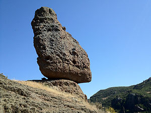 Santa Monica Mountains National Recreation Area - 'Balance Rock' near the Mishe Mokwa Trail