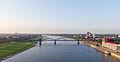Ballonfahrt über Köln - Rhein, Südbrücke, Rheinauhafen mit Kap am Südkai-RS-4058.jpg