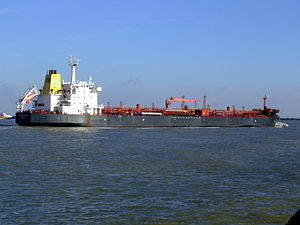 Baltic Captain I IMO 9208100 approaching Port of Rotterdam, Holland 25-Jan-2007.jpg