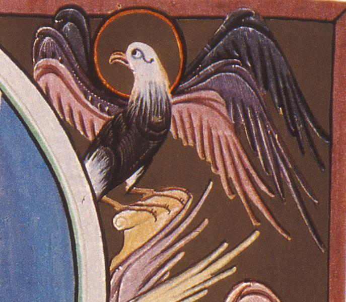 File:BambergApocalypseFolio010vWorshipBeforeThroneOfGod-DetailEagle.jpg