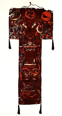 Banière funéraire, peinture sur soie, Chine