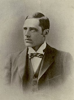 "The bush balladeer Banjo Paterson penned a number of classic works including ""Waltzing Matilda"" (1895), regarded as Australia's unofficial national anthem. Banjo Patterson.jpg"