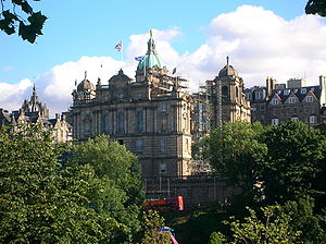 The Mound - The Bank of Scotland headquarters on the Mound