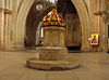 Baptismal Font, Wells Cathedral - geograph.org.uk - 630565 adjusted.JPG