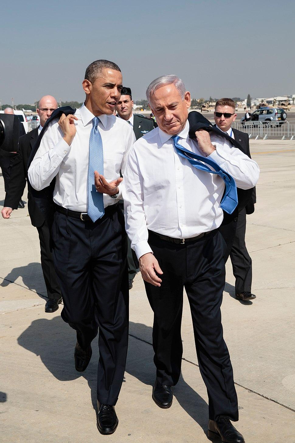 Barack Obama and Benyamin Netanyahu