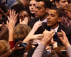 Ο Μπαράκ Ομπάμα κατά την προεκλογική του εκστρατεία