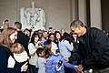 Barack Obama at Lincoln Memorial.jpg
