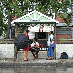 A bus stop in Barbados