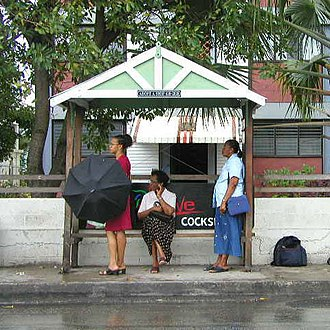 Barbados - A bus stop in Barbados.