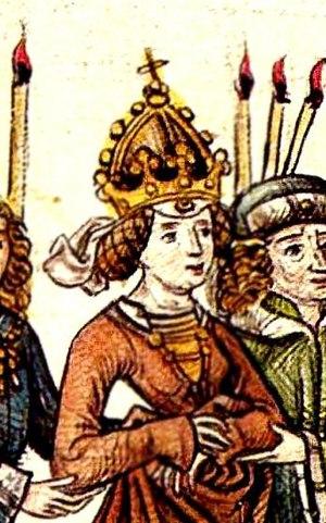 Barbara of Cilli - Image: Barbara of Celje Meister der Chronik des Konzils von Konstanz 001