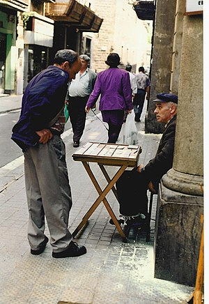 Man selling lottery tickets, Barcelona