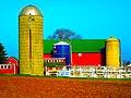 Barn with Three Silos - panoramio.jpg