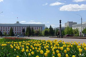 Altai Krai - Krai Administration seat in the Soviets Square, Barnaul