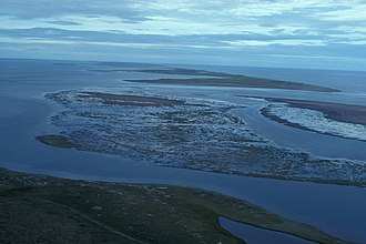 Kotzebue Sound - Barrier islands and lagoons at Cape Espenberg