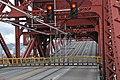 Bascule lift span opening on Portland's Broadway Bridge - looking southwest across roadway, 2013.jpg