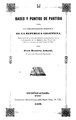 Bases y puntos de partida para la organización política de la República Argentina - Juan Bautista Alberdi.pdf