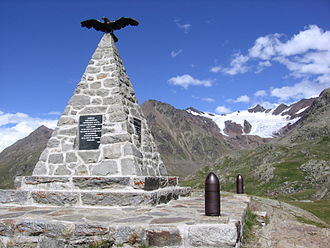 Battle of San Matteo - Italian monument dedicated to the victims of the battle, on the way to the Gavia Pass