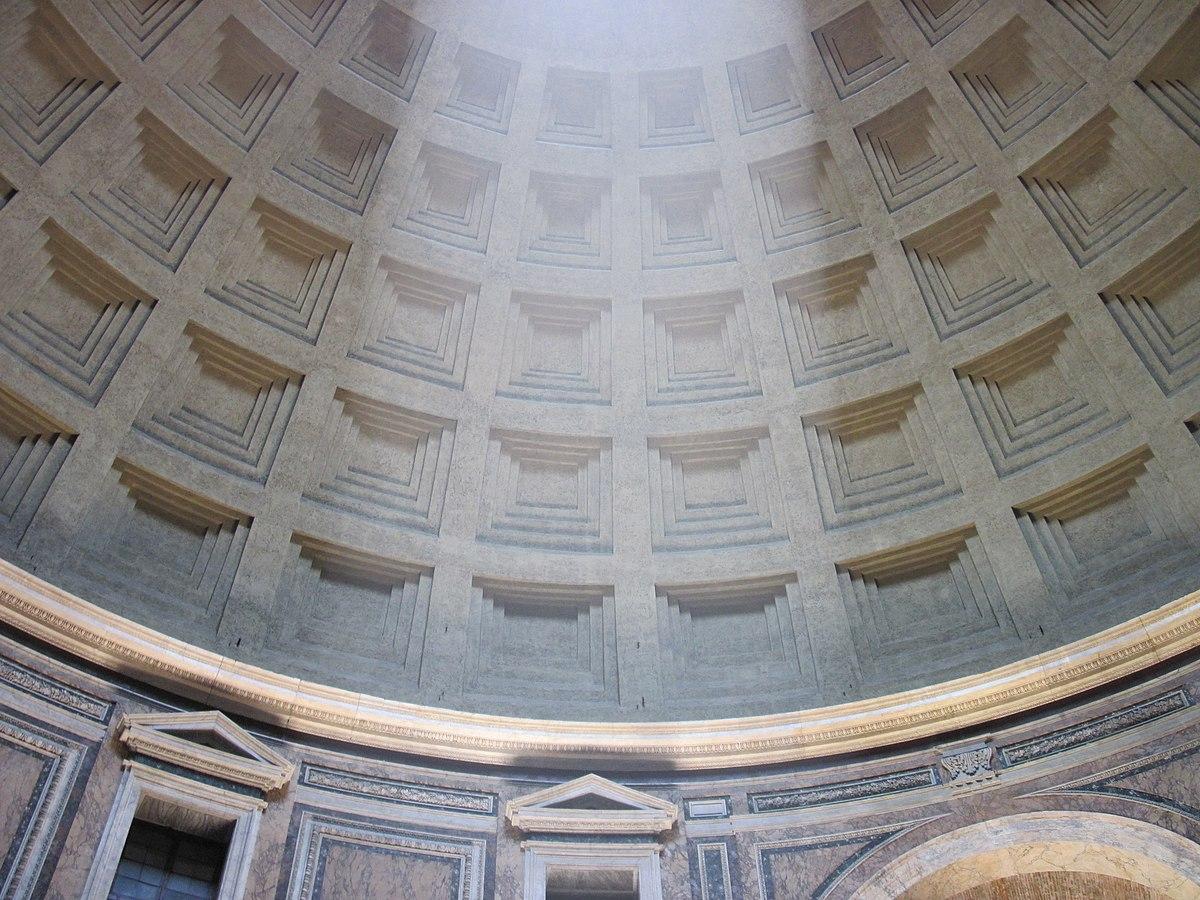 Пантеон в Риме. Beam in the dome of the Pantheon.jpg