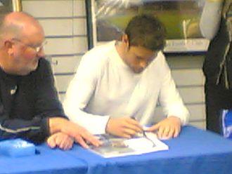 James Beattie (footballer) - Beattie (right) in 2004