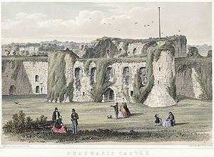 Beaumaris - The castle in 1852