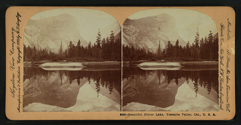 Beautiful Mirror Lake, Yosemite Valley, Cal. U.S.A, by Singley, B. L. (Benjamin Lloyd) 8.jpg