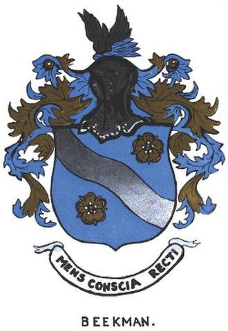 Wilhelmus Beekman - Beekman Arms granted by James I