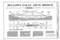 Bellows Falls Arch Bridge, Spanning Connecticut River, North Walpole, Cheshire County, NH HAER NH,3-WALPN,1- (sheet 1 of 3).png