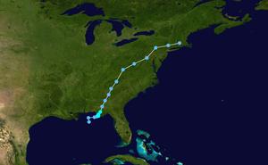 Tropical Storm Beryl (1994) - Image: Beryl 1994 track