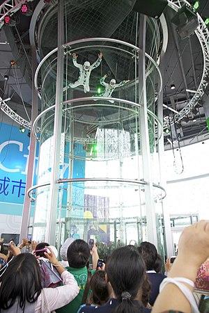 Aerodium Latvia - AERODIUM vertical wind tunnel at World EXPO 2010, Shanghai