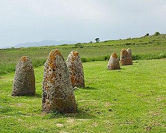 Giants of Mont'e Prama - Tamuli, Macomer (Sardinia), cone-breasted baethyls.