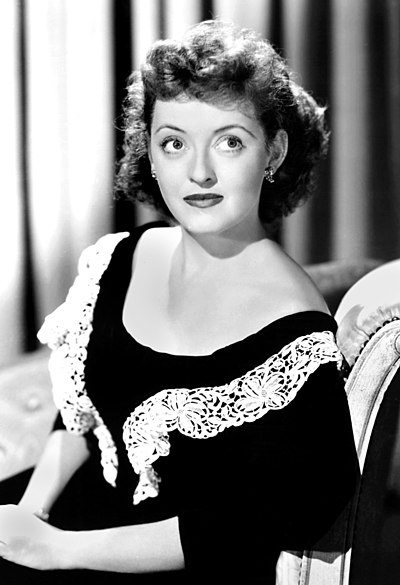 Bette Davis, American film, television and stage actress
