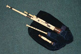 Northumbrian smallpipes bellows-blown bagpipes from Northeastern England