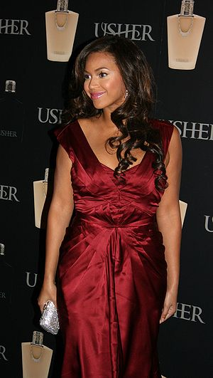 Beyonce during a product launch of Usher Raymond.