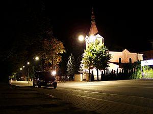 Biłgoraj - St. George church and Tadeusz Kościuszko Street
