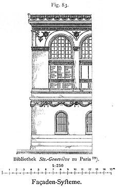 Alzado de la fachada