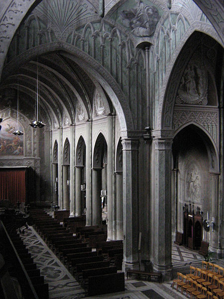 The interior of the cathedral in Biella (Italy) is a masterpiece of trompe-l'œil