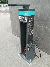 Bike repair station, Poznan Kaponiera.jpg