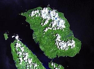 Biliran - NASA Landsat image of Biliran