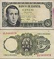 Billete de cinco pesetas - España 1951.jpg