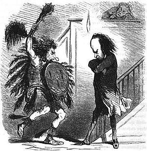 Jean-Martial Bineau - Image: Bineau en Ioway contre Victor Hugo par Cham