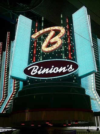 Binion's Gambling Hall and Hotel - Image: Binionslasvegassign