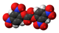 Bis(2,4-dinitrophenyl) oxalate 3D spacefill.png