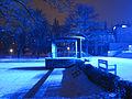 Blaue Nachtbeleuchtung im Weimarhallenpark - panoramio.jpg