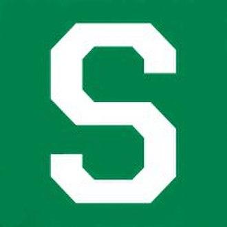 Steinert High School - Image: Block Letter White S Green BG