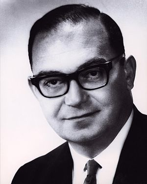 Environmental Science Services Administration - Robert M. White, ca. 1971. He was the Administrator of ESSA throughout its existence.
